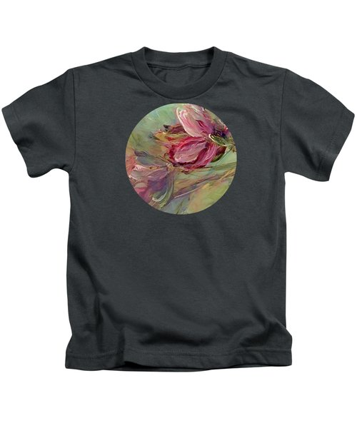 Flower Blossoms Kids T-Shirt by Mary Wolf
