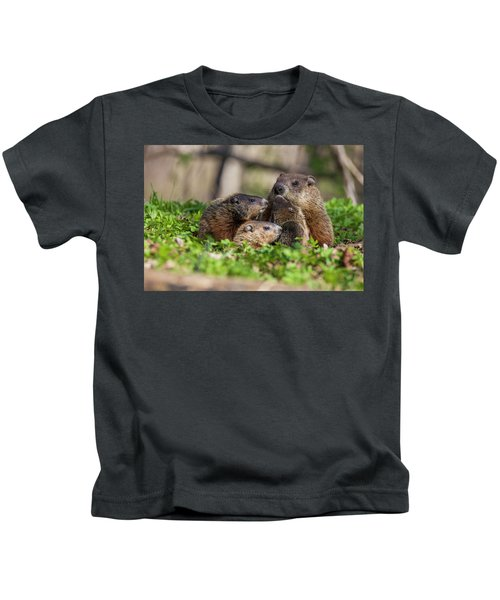 Happy Family Kids T-Shirt by Mircea Costina Photography