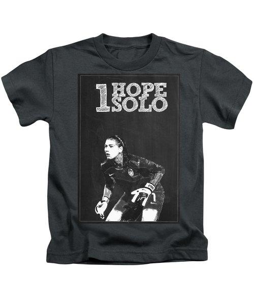 Hope Solo Kids T-Shirt by Semih Yurdabak