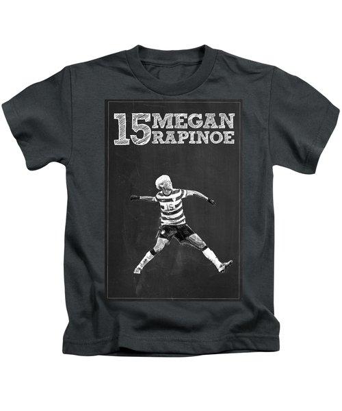 Megan Rapinoe Kids T-Shirt by Semih Yurdabak