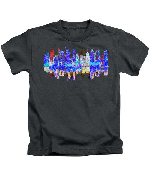 New York Skyline Kids T-Shirt by John Groves