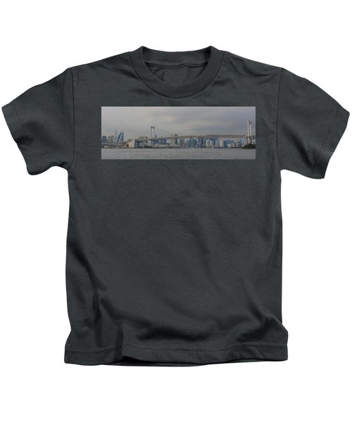 Rainbow Bridge Kids T-Shirt by Megan Martens