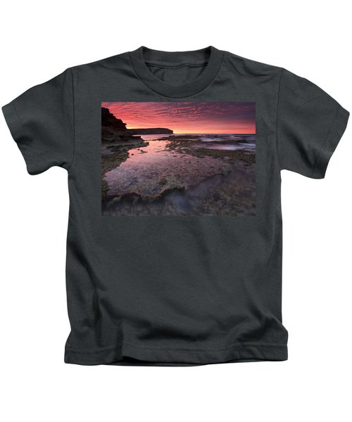 Red Sky At Morning Kids T-Shirt by Mike  Dawson