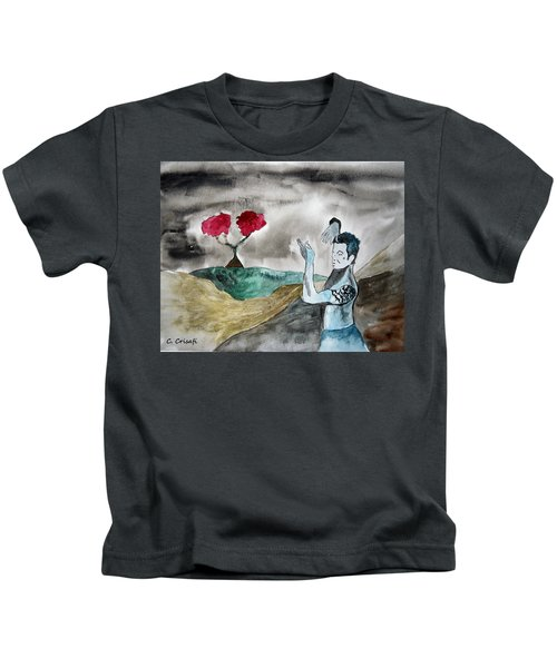 Scott Weiland - Stone Temple Pilots - Music Inspiration Series Kids T-Shirt by Carol Crisafi