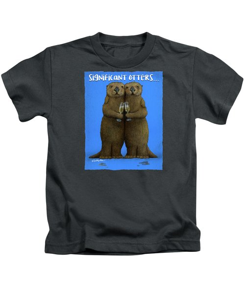 Significant Otters... Kids T-Shirt by Will Bullas