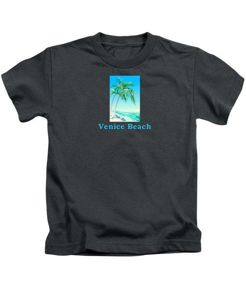 Venice Beach Kids T-Shirt by Brian Edward