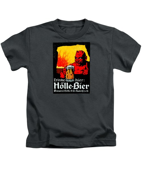 1905 German Beer Poster Kids T-Shirt by Historic Image