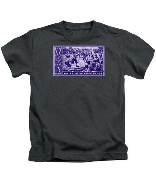 1939 Baseball Centennial Kids T-Shirt by Historic Image