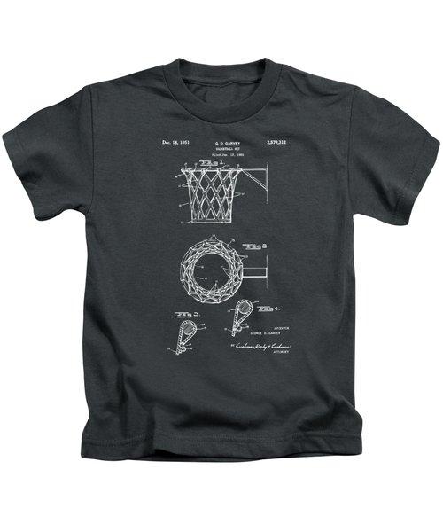 1951 Basketball Net Patent Artwork - Gray Kids T-Shirt by Nikki Marie Smith