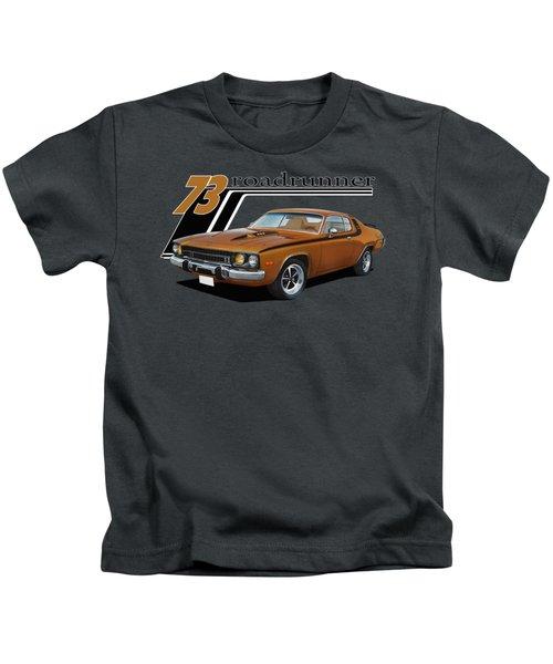 1973 Roadrunner Kids T-Shirt by Paul Kuras