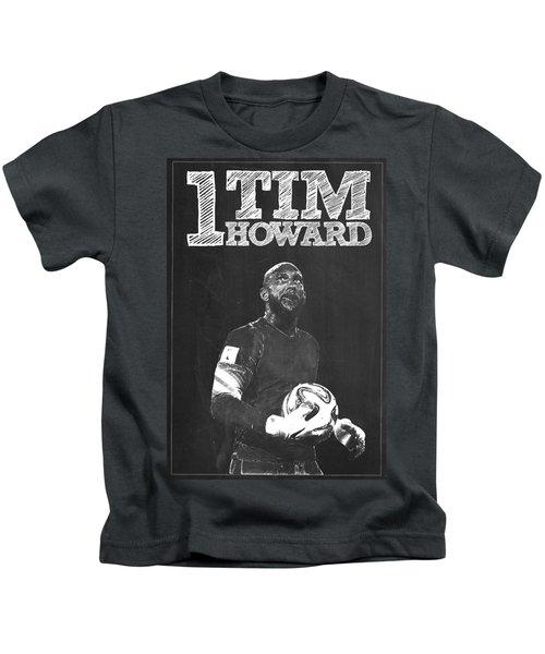 Tim Howard Kids T-Shirt by Semih Yurdabak