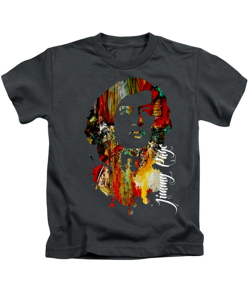 Jimmy Page Collection Kids T-Shirt by Marvin Blaine