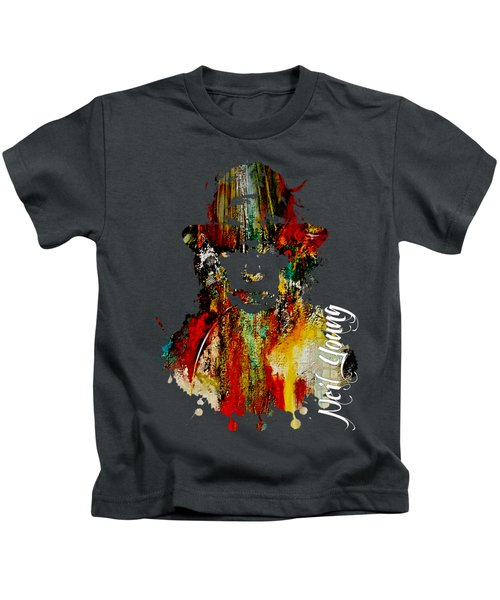 Neil Young Collection Kids T-Shirt by Marvin Blaine