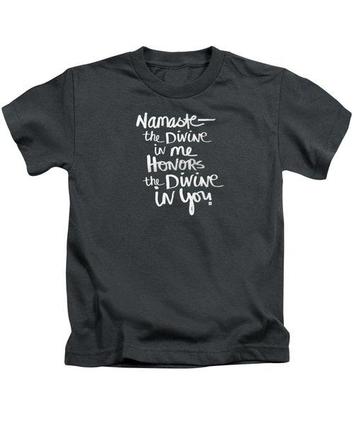 Namaste Kids T-Shirt by Linda Woods