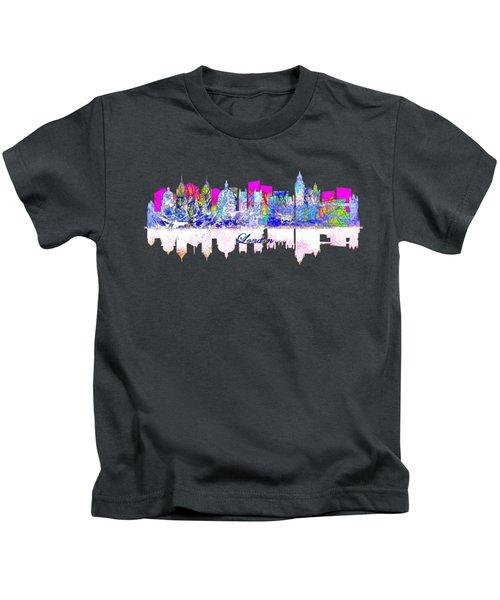 London England Skyline Kids T-Shirt by John Groves
