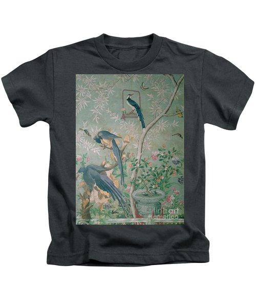 A Pair Of Magpie Jays  Vintage Wallpaper Kids T-Shirt by John James Audubon