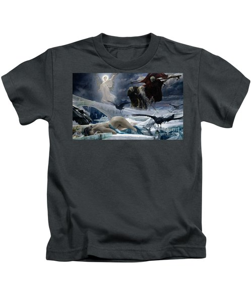 Ahasuerus At The End Of The World Kids T-Shirt by Adolph Hiremy Hirschl