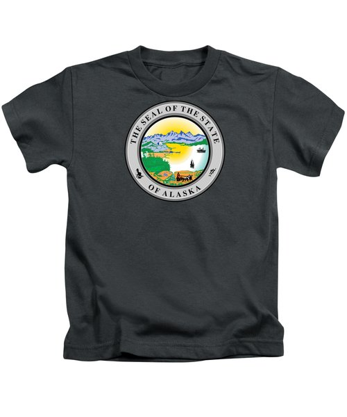 Alaska State Seal Kids T-Shirt by Movie Poster Prints