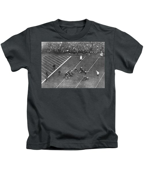 Albie Booth Kick Beats Harvard Kids T-Shirt by Underwood Archives
