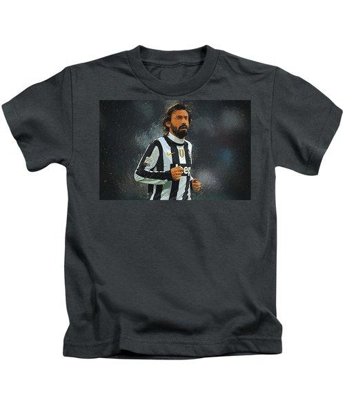 Andrea Pirlo Kids T-Shirt by Semih Yurdabak