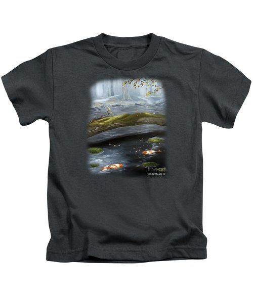 The Wishing Pond  Kids T-Shirt by Susan  Rossell
