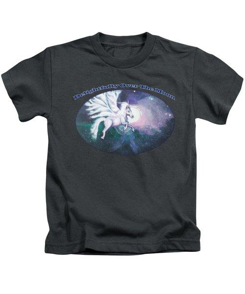 Unicorn And The Universe Kids T-Shirt by Artist Nandika  Dutt
