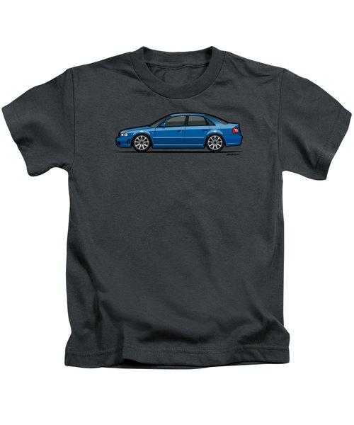 Audi A4 S4 Quattro B5 Type 8d Sedan Nogaro Blue Kids T-Shirt by Monkey Crisis On Mars