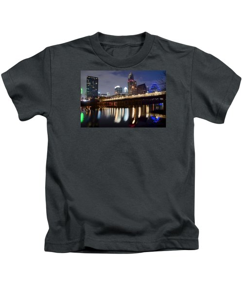 Austin From Below Kids T-Shirt by Frozen in Time Fine Art Photography
