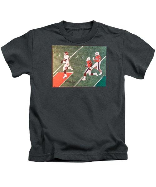 Arkansas V Miami, 1988 Kids T-Shirt by TJ Doyle
