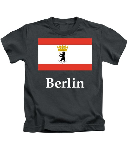 Berlin, Germany Flag And Name Kids T-Shirt by Frederick Holiday