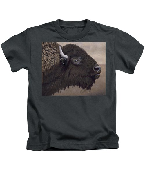 Bison Kids T-Shirt by Jacqueline Barden