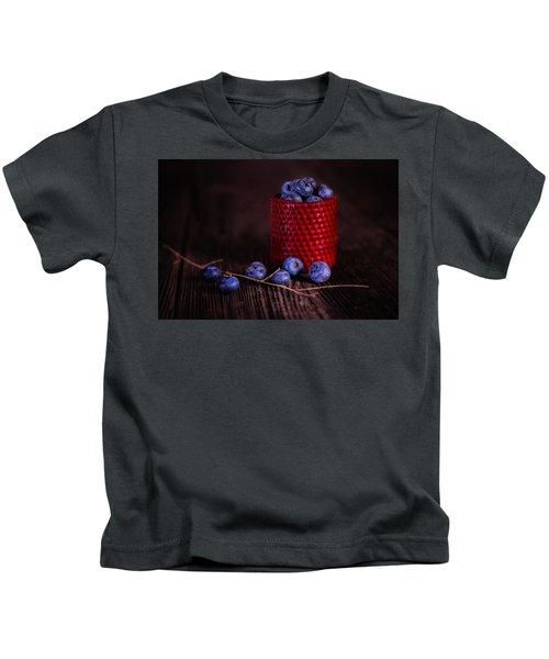Blueberry Delight Kids T-Shirt by Tom Mc Nemar