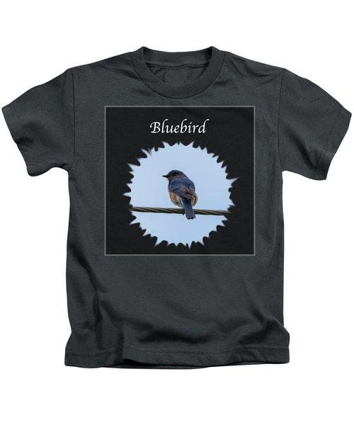 Bluebird Kids T-Shirt by Jan M Holden
