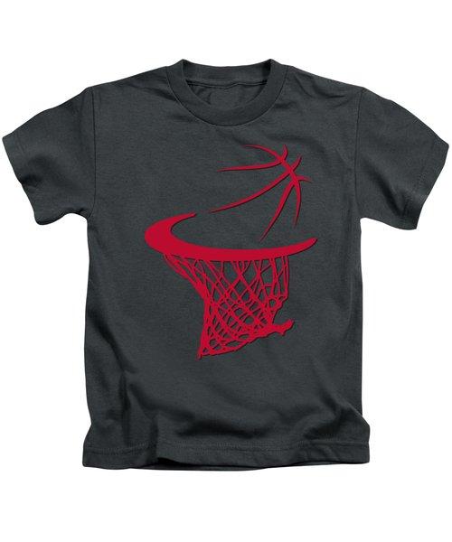 Bulls Basketball Hoop Kids T-Shirt by Joe Hamilton