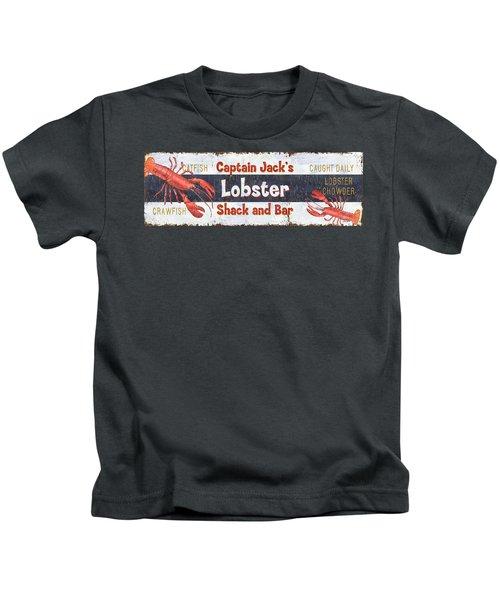 Captain Jack's Lobster Shack Kids T-Shirt by Debbie DeWitt