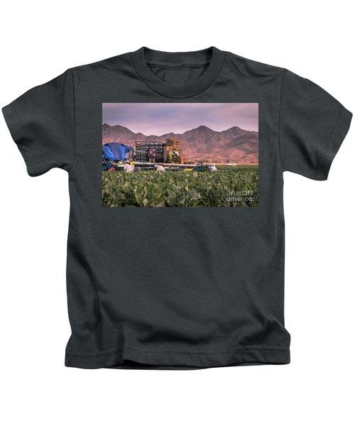 Cauliflower Harvest Kids T-Shirt by Robert Bales
