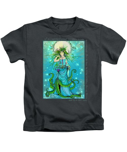 Cephalopod Princess Kids T-Shirt by Katherine Nutt