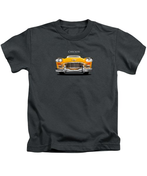 Checker Cab Kids T-Shirt by Mark Rogan