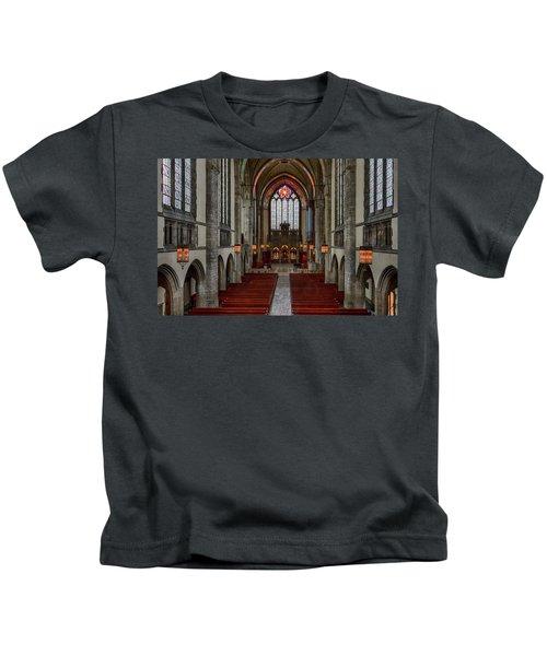 Chicago Rockefeller Chapel Kids T-Shirt by Mike Burgquist
