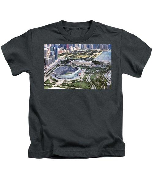 Chicago's Soldier Field Kids T-Shirt by Adam Romanowicz
