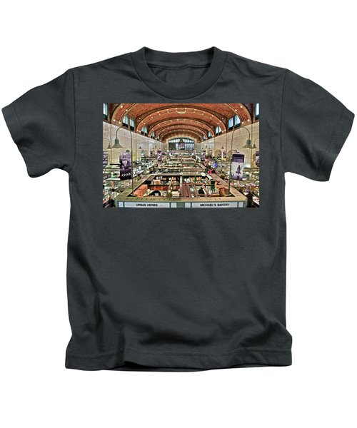 Classic Westside Market Kids T-Shirt by Frozen in Time Fine Art Photography