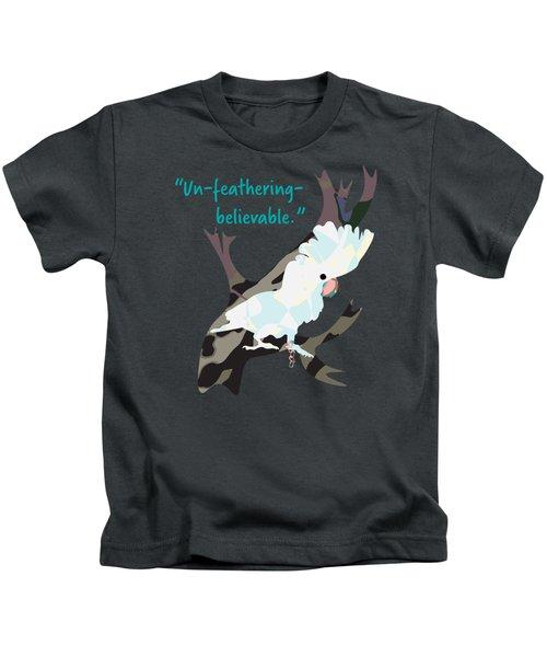 Cookie Cockatoo Kids T-Shirt by Geckojoy Gecko Books