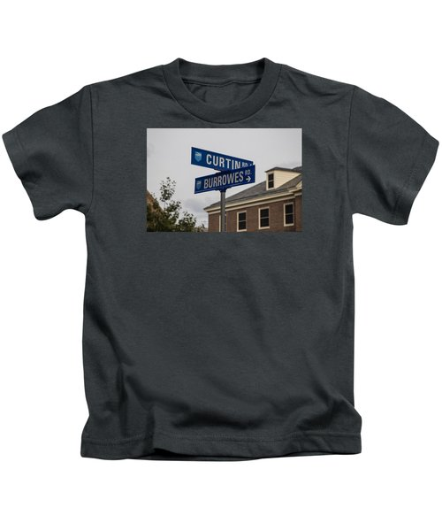 Curtin And Burrowes Penn State  Kids T-Shirt by John McGraw