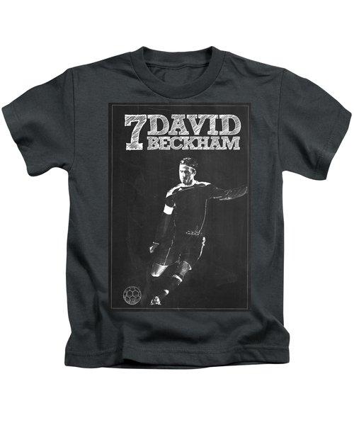 David Beckham Kids T-Shirt by Semih Yurdabak