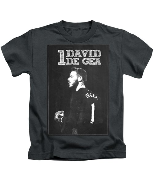 David De Gea Kids T-Shirt by Semih Yurdabak