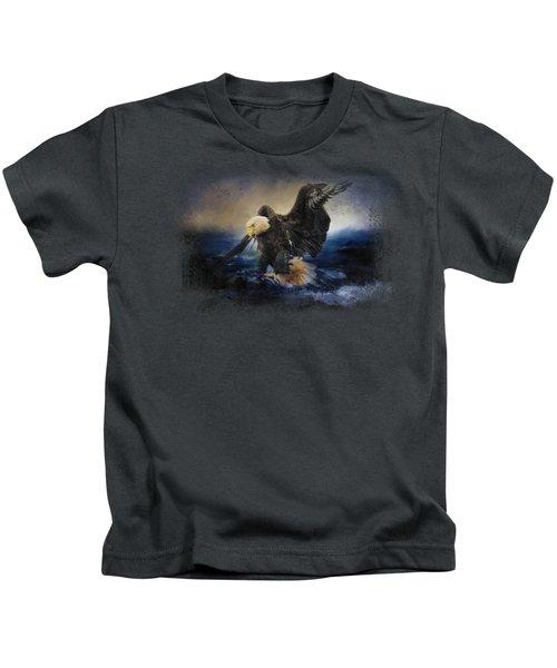 Deep Sea Fishing Kids T-Shirt by Jai Johnson
