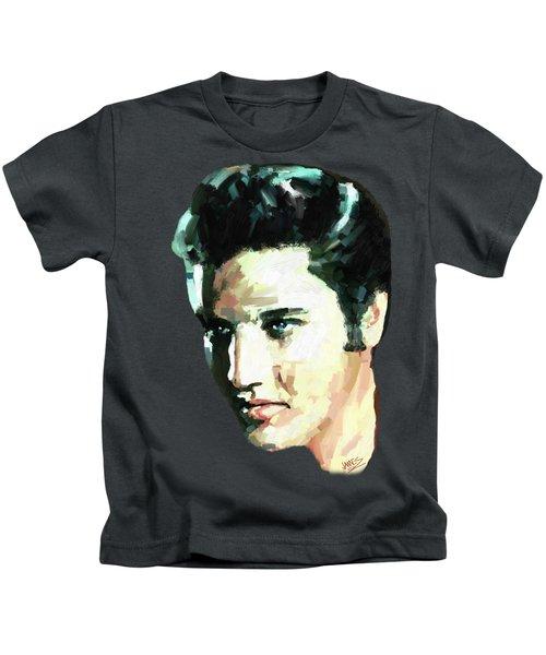 Elvis Kids T-Shirt by James Shepherd