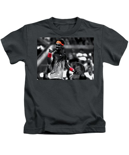 Fabio Fognini Kids T-Shirt by Brian Reaves