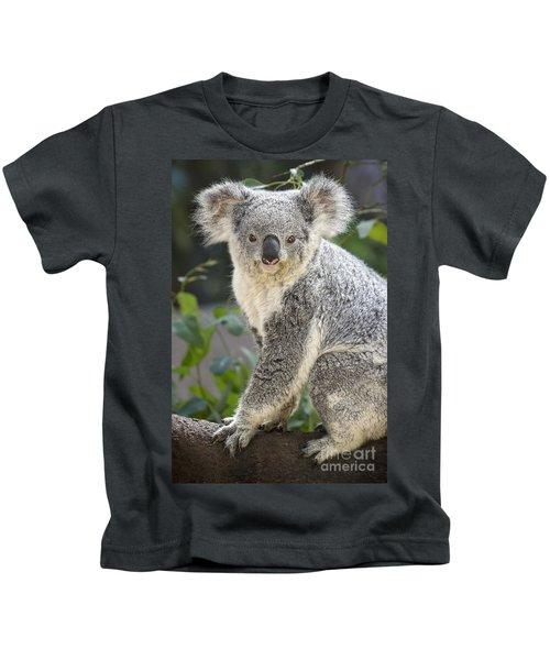 Female Koala Kids T-Shirt by Jamie Pham