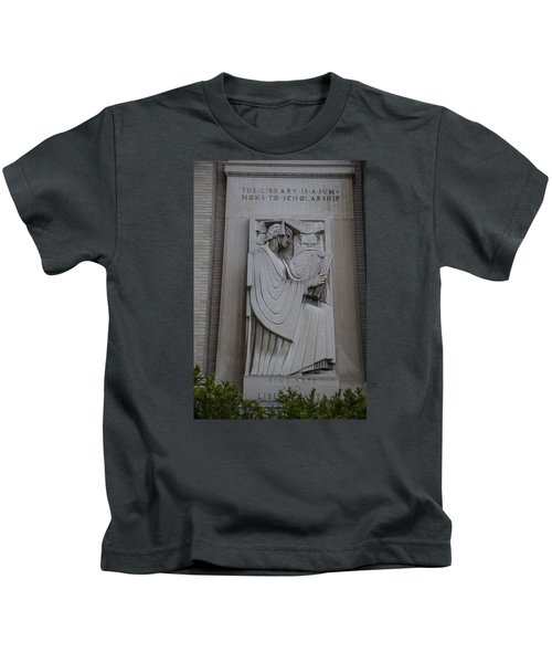 Fine Art Library Penn State  Kids T-Shirt by John McGraw